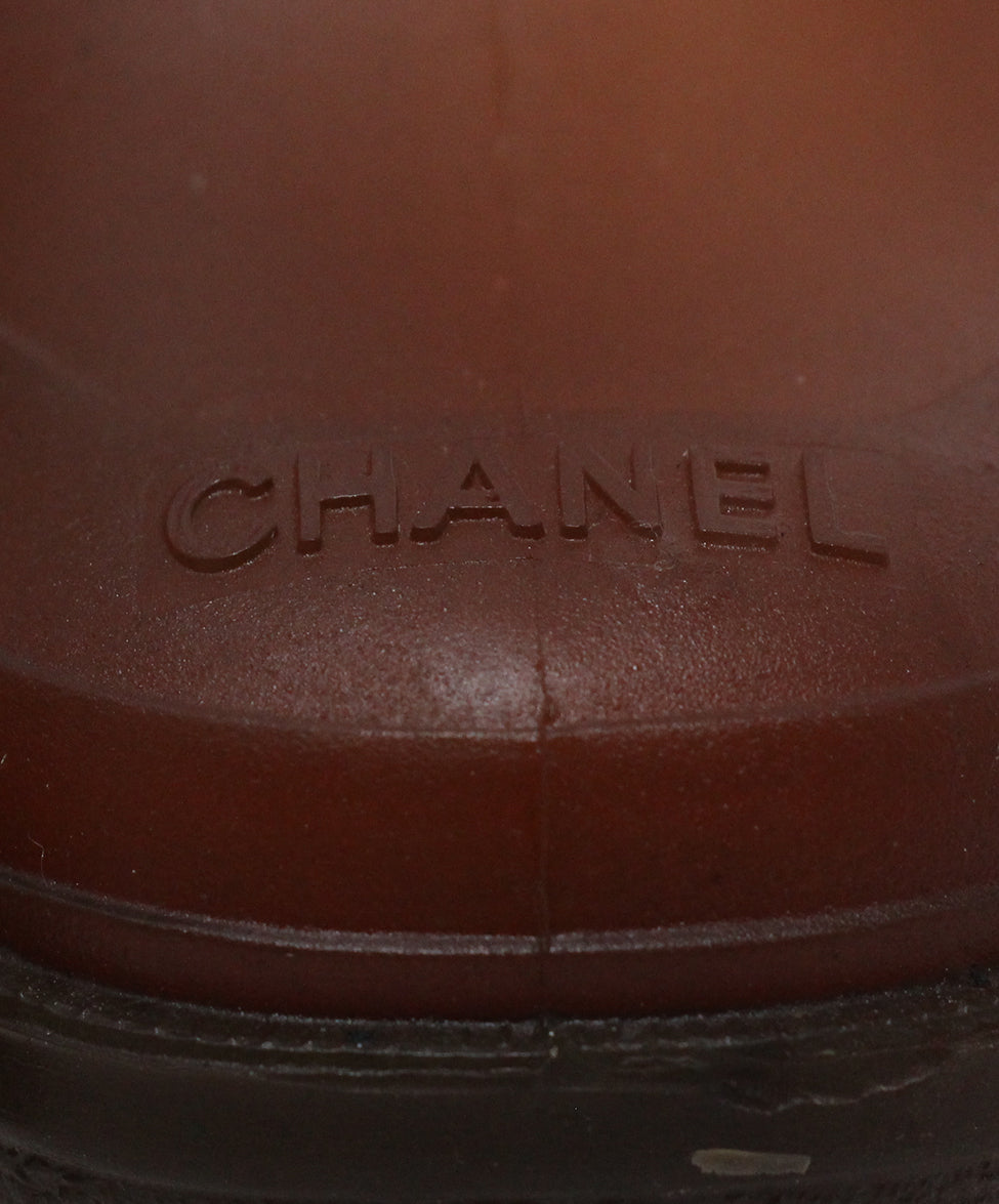 Chanel Brown Rubber Booties 8