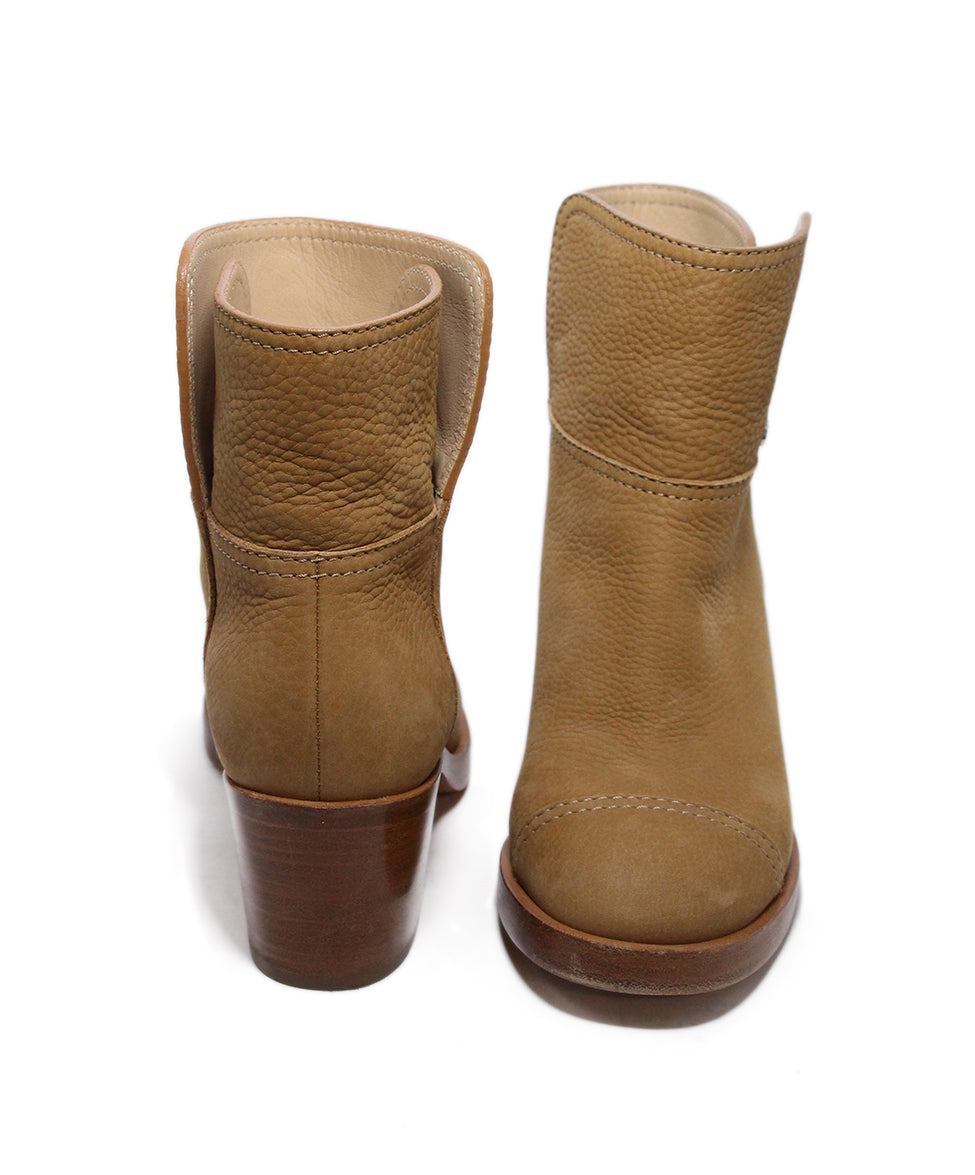 Chanel Brown Tan Leather Boots 3