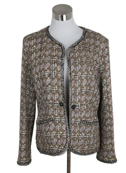 Chanel Neutral Brown Ivory Tweed Jacket 1