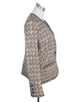 Chanel Neutral Brown Ivory Tweed Jacket 2