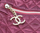 Chanel Burgundy Quilted Crossbody 9