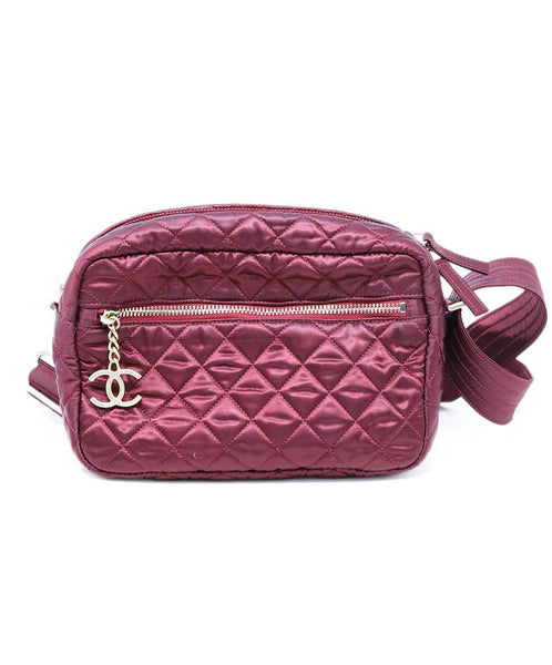 Chanel Burgundy Quilted Crossbody 1