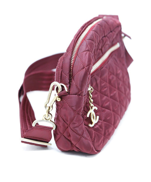 Chanel Burgundy Quilted Crossbody 2