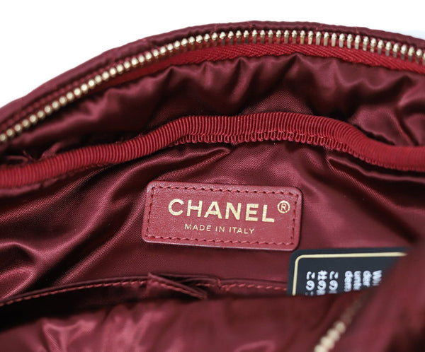 Chanel Burgundy Quilted Crossbody 7