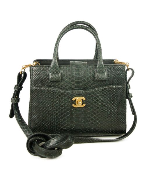 Chanel Charcoal Python Bag 1