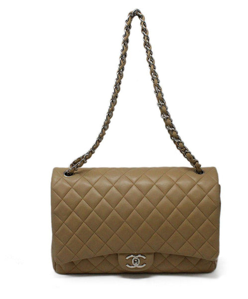 Chanel Neutral Jumbo Classic Flap Bag