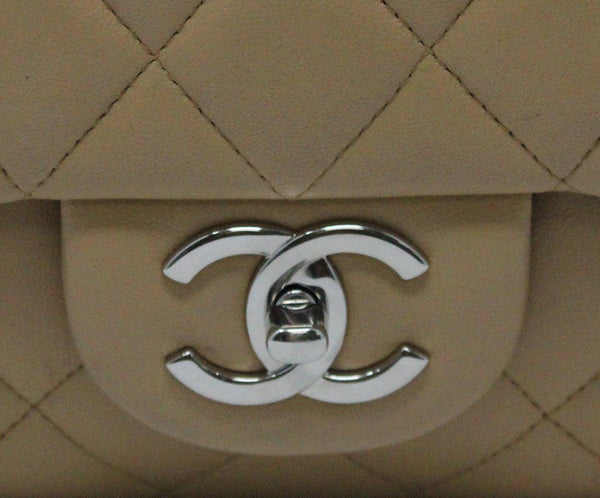 Chanel Neutral Jumbo Classic Flap Bag 8