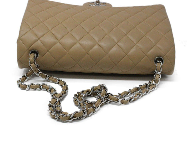 Chanel Neutral Jumbo Classic Flap Bag 4