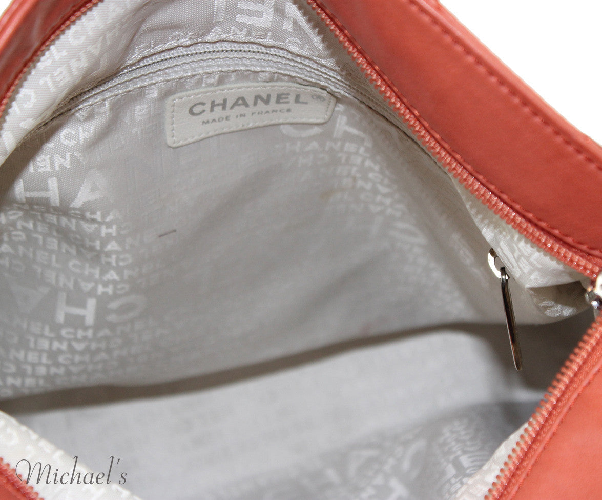 Chanel Coral Leather Quilted Bag - Michael's Consignment NYC  - 5
