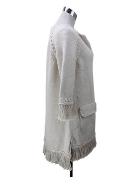 Chanel Ecru Cotton Dress with Fringe 1