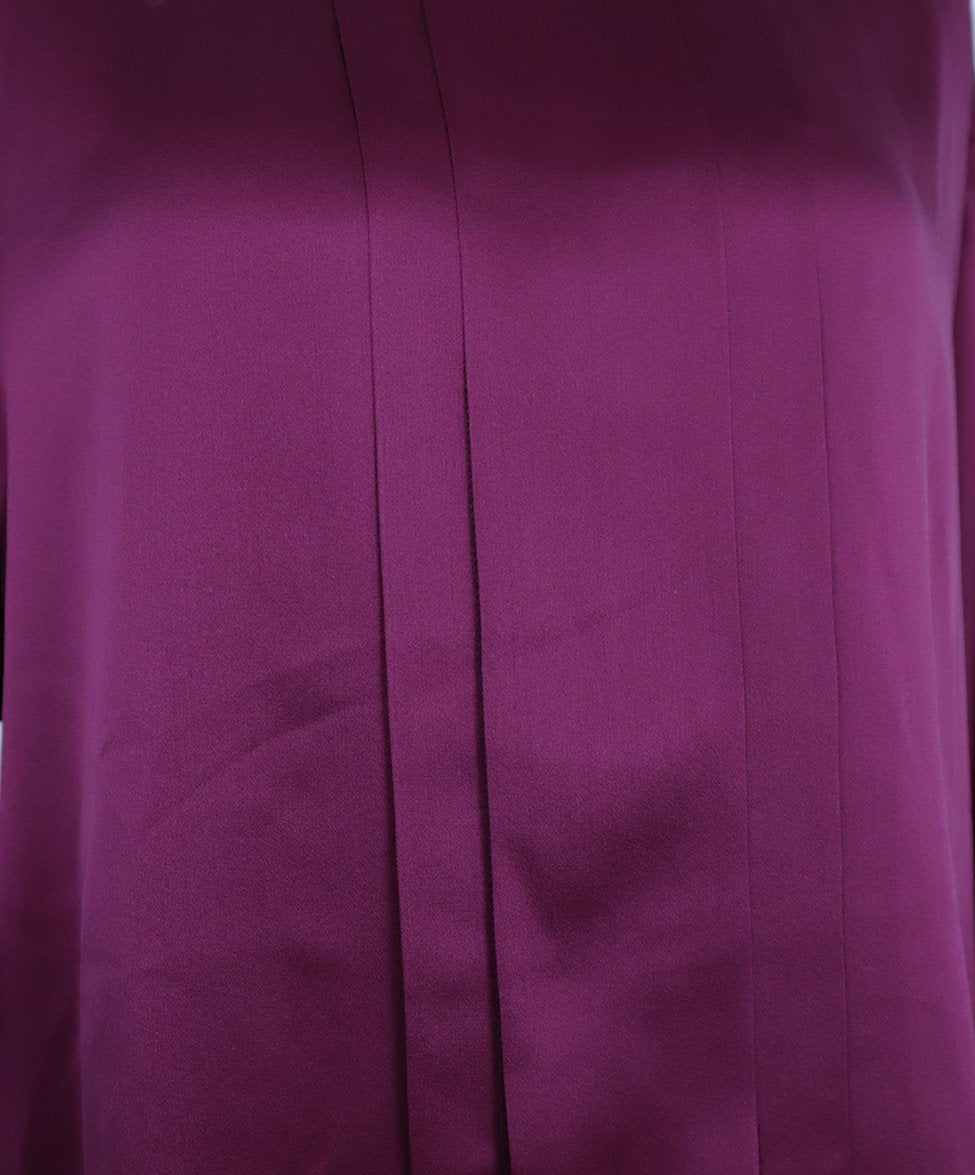Chanel Fuchsia Silk Gold Buttons Blouse 5