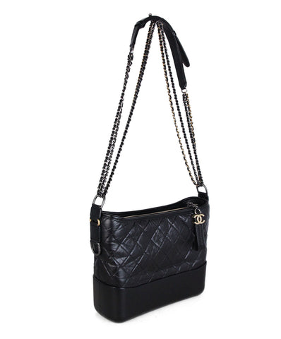 Chanel Gabrielle Black Quilted calfskin two tone hardware bag 1