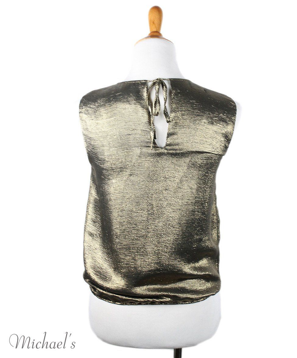 Chanel  Gold Lurex Top Sz 34 - Michael's Consignment NYC  - 3