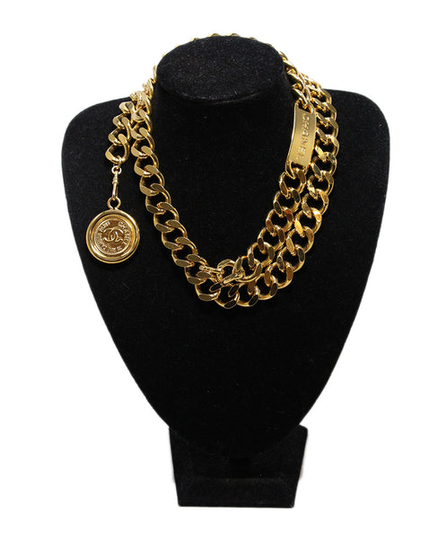 Chanel Gold Metal Chain Belt 1