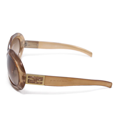 Chanel Gold Plastic Rhinestone Sunglasses 1