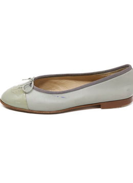 Chanel Green Light Lambskin Leather Flats 1