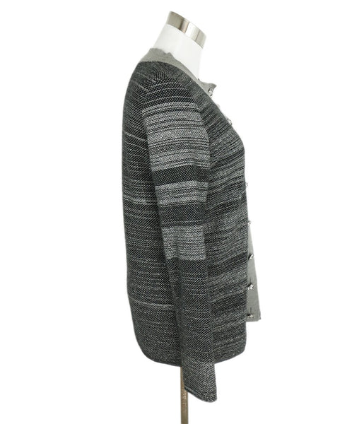 Chanel Grey Charcoal Black Cashmere Polyester Sweater set 3