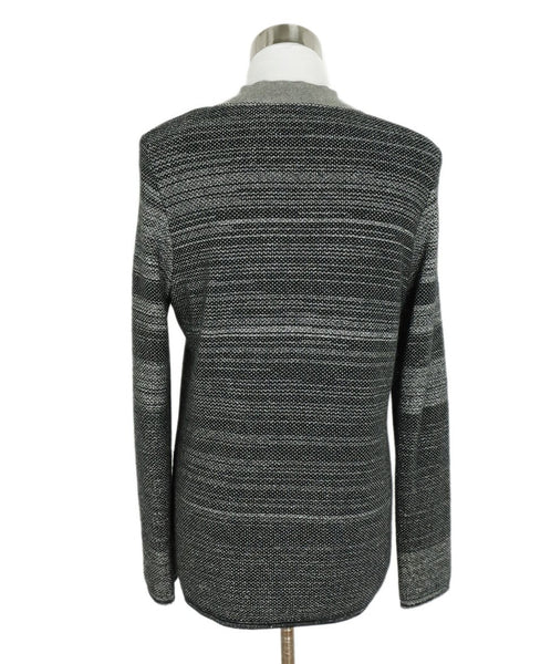 Chanel Grey Charcoal Black Cashmere Polyester Sweater set 4
