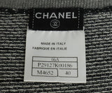 Chanel Grey Charcoal Black Cashmere Polyester Sweater set 10