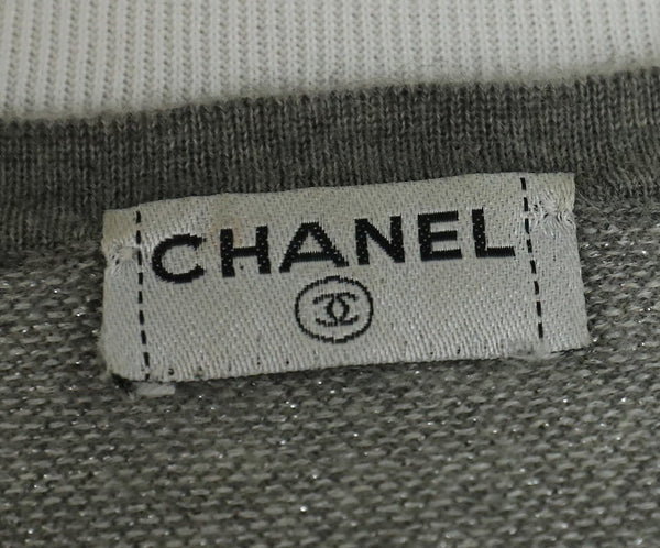 Chanel Grey Charcoal Black Cashmere Polyester Sweater set 11