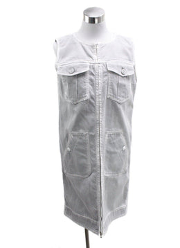 Chanel Grey Cotton White Denim Dress