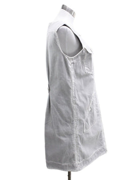 Chanel Grey Cotton White Denim Dress 1