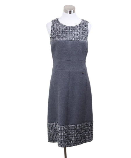 Chanel Vintage Navy Blue Silk Mini Dress Size 4