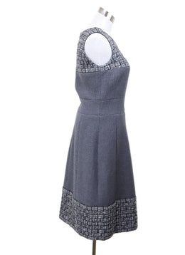 Chanel Grey Wool Cashmere Tweed Dress 1