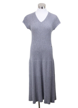 Chanel Grey Wool Dress Sz 8
