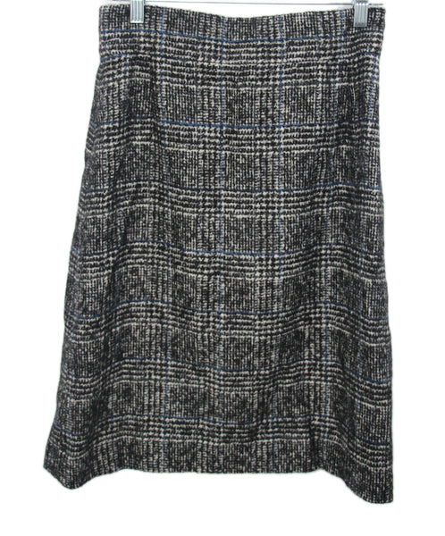 Chanel Black Grey Wool Polyamide Skirt 1
