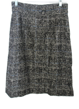 Chanel Black Grey Wool Polyamide Skirt 2