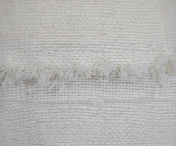 Chanel Size 4 White Ivory Cotton Skirt 5