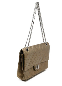 Chanel Metallic Bronze Quilted Leather Purse Reissue 2