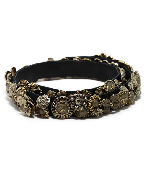Chanel Metallic Gold Charms Belt 1