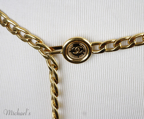 Chanel Gold Metal Belt