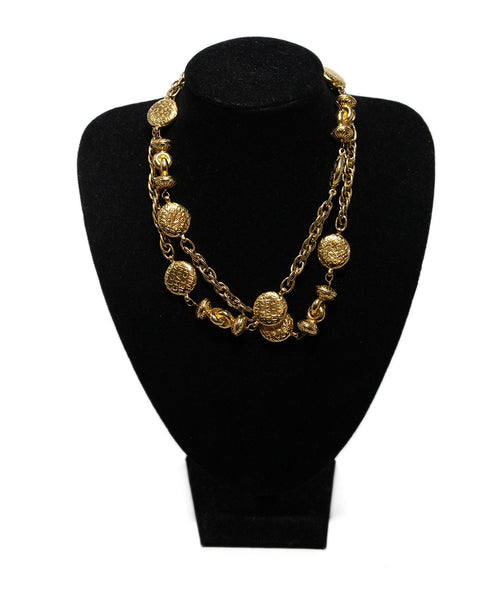 Chanel Metallic Gold Necklace 1
