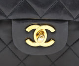 Chanel Classic Black Quilted Handbag 8