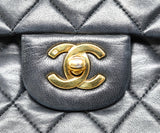 Chanel Classic Black Quilted Handbag 10