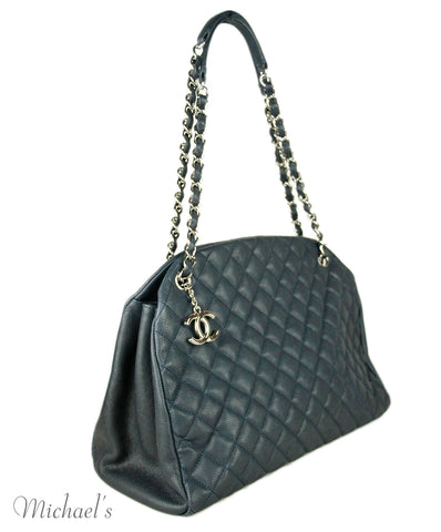 Chanel Navy Quilted Leather Handbag