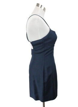 Chanel Vintage Navy Blue Silk Mini Dress 2