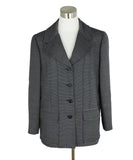 Chanel Blue Navy White Stripes Wool Silk Jacket 1
