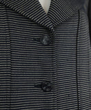 Chanel Blue Navy White Stripes Wool Silk Jacket 5