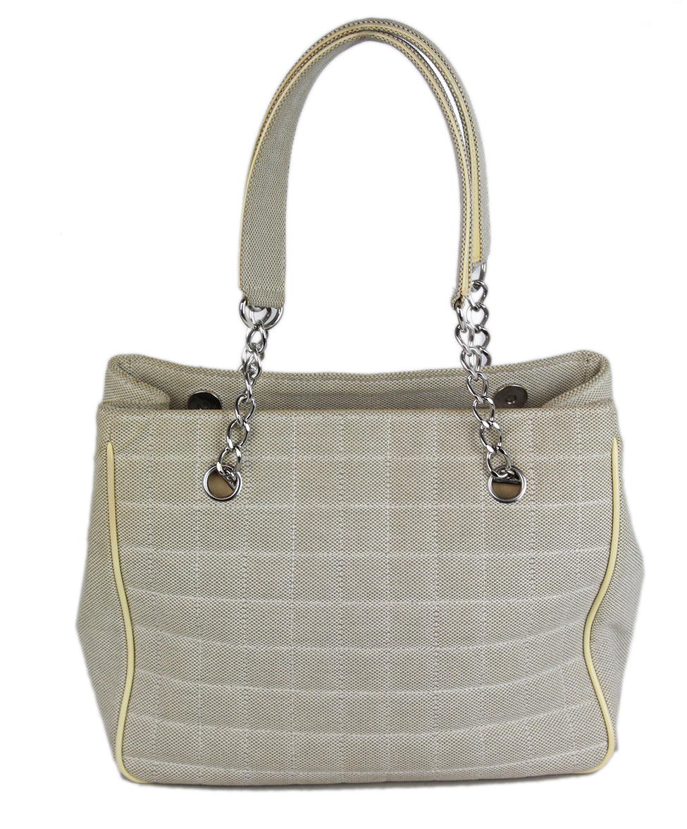 Chanel Neutral Beige Leather 3