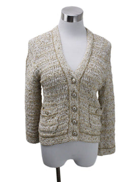 Chanel Neutral Gold Sequins Sweater sz 6
