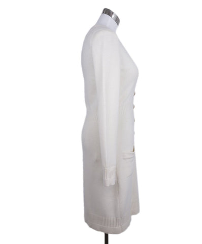 Chanel Neutral Ivory Cashmere Long Sweater 1