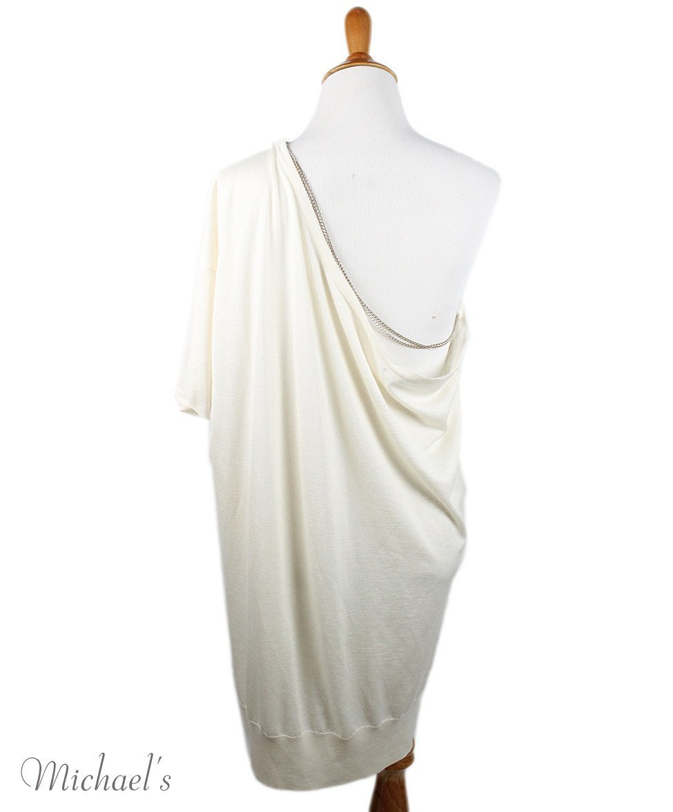 Chanel Size 4 Neutral Ivory Cashmere Silk Gold Trim Sweater - Michael's Consignment NYC  - 3