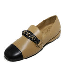 Chanel Tan Leather Black Shoes 1
