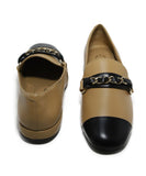 Chanel Tan Leather Black Shoes 3