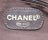 Chanel Neutral Woven Canvas Brown Lucite Handle Purse 8