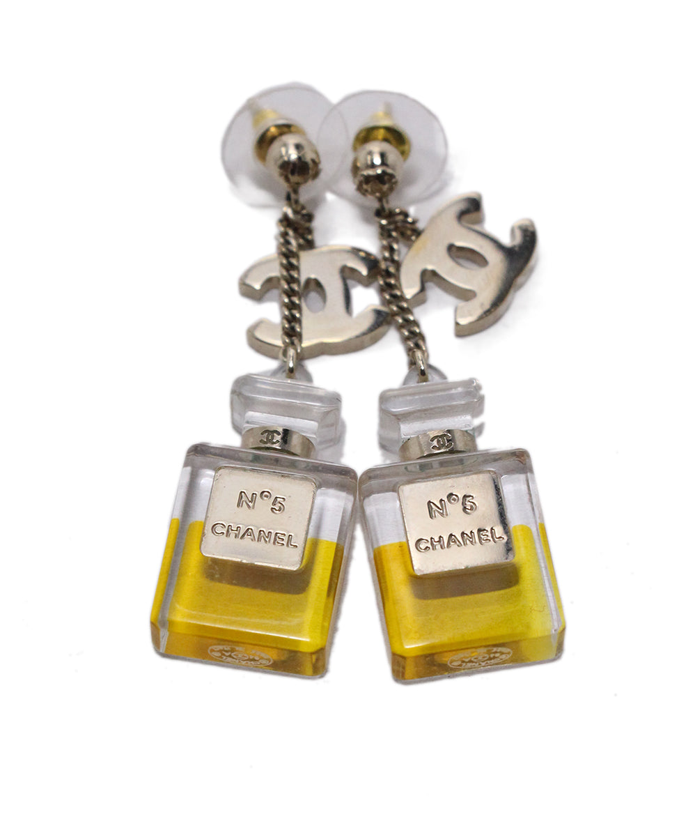 Chanel No 5 Perfume Bottle Earrings 3